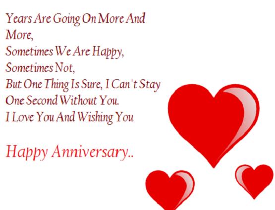 Cute Happy Wedding Anniversary Quote
