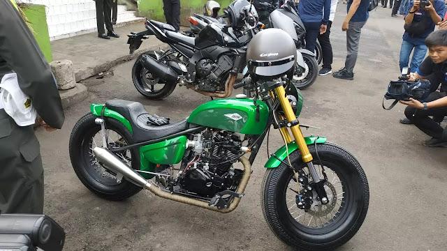 Intip Ubahan Kawasaki W175 Milik Jokowi