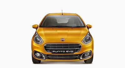 2015 Fiat Punto Evo Front View Model