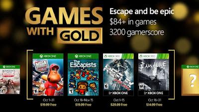 משחקי החינם של חודש אוקטובר למנויי Xbox Live Gold נחשפו