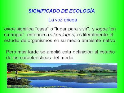 Significado de Ecología