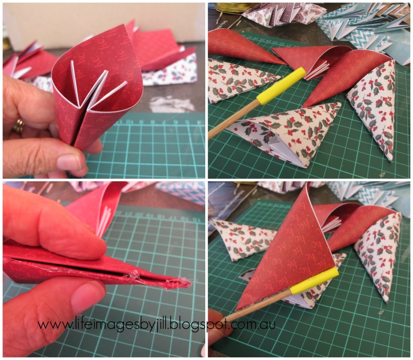 Life images by jill how to make a simple paper flower step 9 after you have glued the cones all the way round and you should end up with a flower that looks like this see how i have used contrasting but mightylinksfo