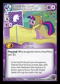 My Little Pony Clover the Clever, Equestrian Founder Marks in Time CCG Card