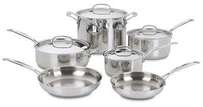 Cuisinart 77-10 Chef's Classic Stainless 10-Piece Cookware
