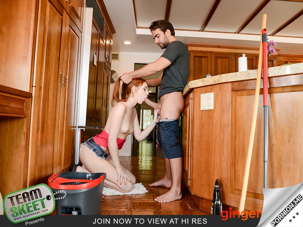 GingerPatch - Maya Kendrick - Redhead Babe Vacuums The Cock