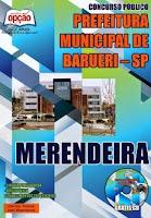 Apostila Concurso Barueri-SP para Assistente e Merendeira.