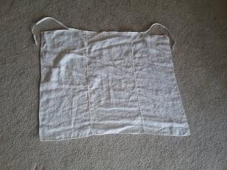 Linen apron, 16th century (Tudor) reproduction.