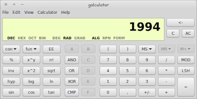 Galculator - Aplikasi Kalkulator Scientifik di Linux