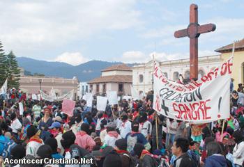 Marchan por Libertad Religiosa en Chiapas