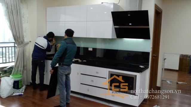 Tủ bếp gỗ nhựa picomat 3