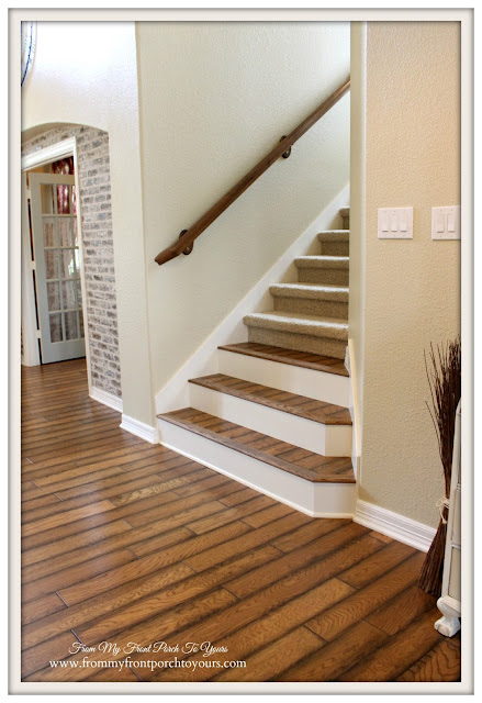 Stair- Renovation-Oak-Flooring-Verticel Design-From My Front Porch To Yours