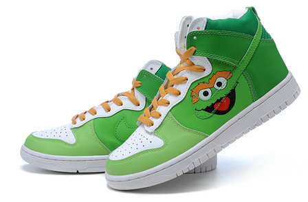 ... Sb High Tops Sesame Street Sneakers. Oscar the Grouch is a Muppet  character on the television program Sesame Street. He has a green body  (during the ... a3e52a863893