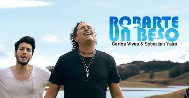 Lirik Lagu Robarte un Beso Carlos Vives, ft. Sebastián Yatra Asli dan Lengkap Free Lyrics Song