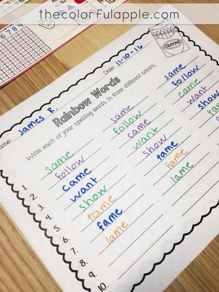 So many ideas for word work in the elementary classroom!  Great activities, centers and organizational tips for spelling.