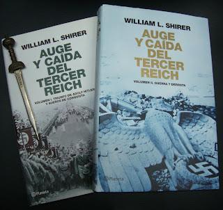 Portada del libro Auge y caída del Tercer Reich (volumen 1 y 2) de William L. Shirer