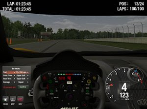 Simraceway racing simulation PC game