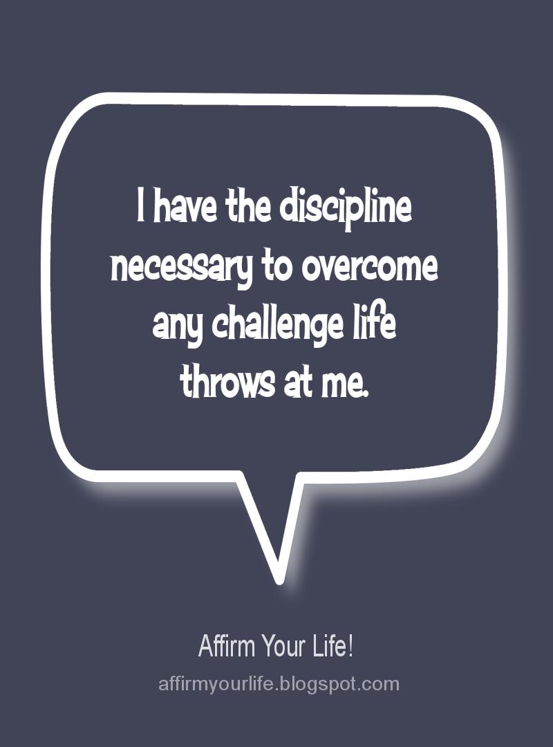 SELF-DISCIPLINE affirmation