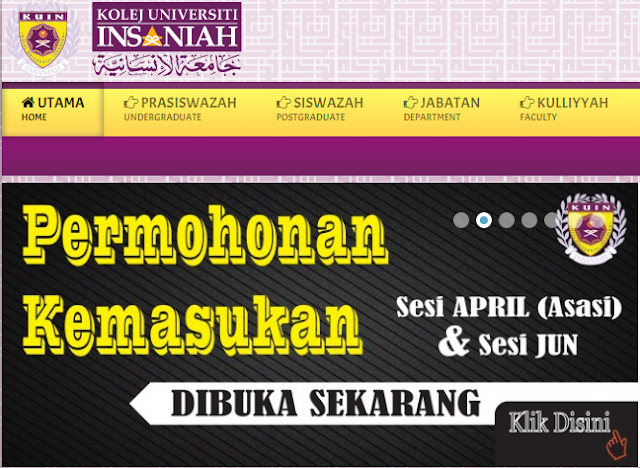 Rasmi - Jawatan Kosong (KUIN) Kolej Universiti Insaniah Terkini 2019