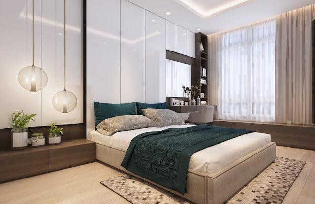 Thiết kế chung căn hộ Sơn Trà Ocean View 1 phòng ngủ - Phòng ngủ