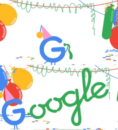 Doodle especial de aniversário do Google - Sorriso na Web