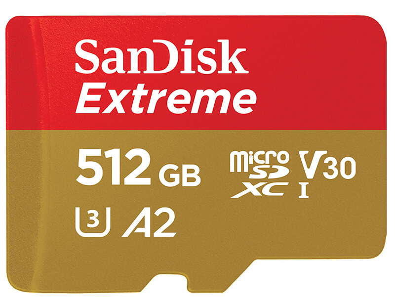 Sandisk 512GB microSD card!