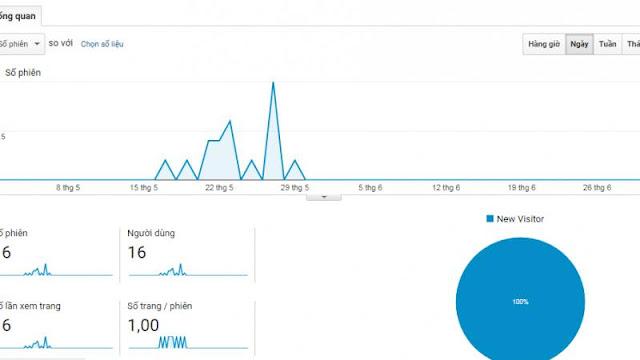 Một trường hợp website trong vòng 2 tháng chỉ có 16 lượt truy cập
