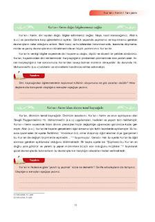 7. Sınıf Kuranı Kerim Ders Kitabı Cevapları Ata Yayınları Sayfa 11