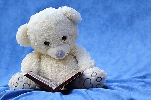 Boneka Beruang Lagi Membaca Buku - Blog Mas Hendra