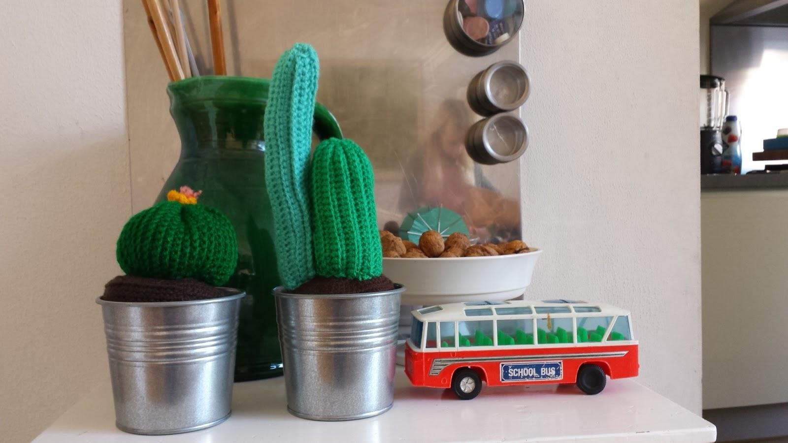 Haken Voor Kinderen Gratis Haakpatroon Gehaakte Cactussen
