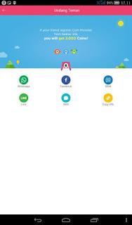 Cara Mendapatkan Pulsa dari Coin Monster (Aplikasi Android)