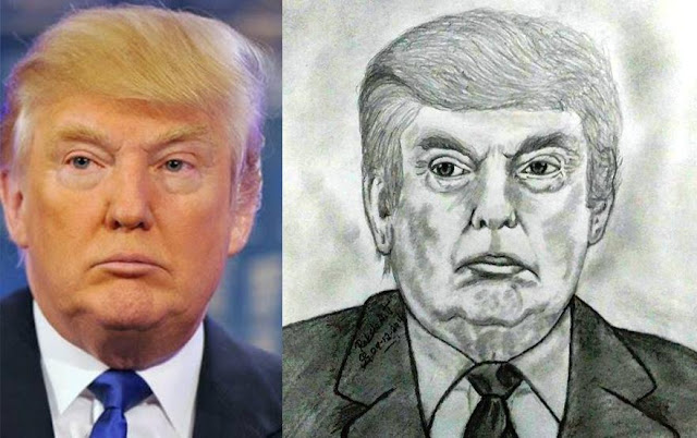PENCIL DRAWING - Donald Trump
