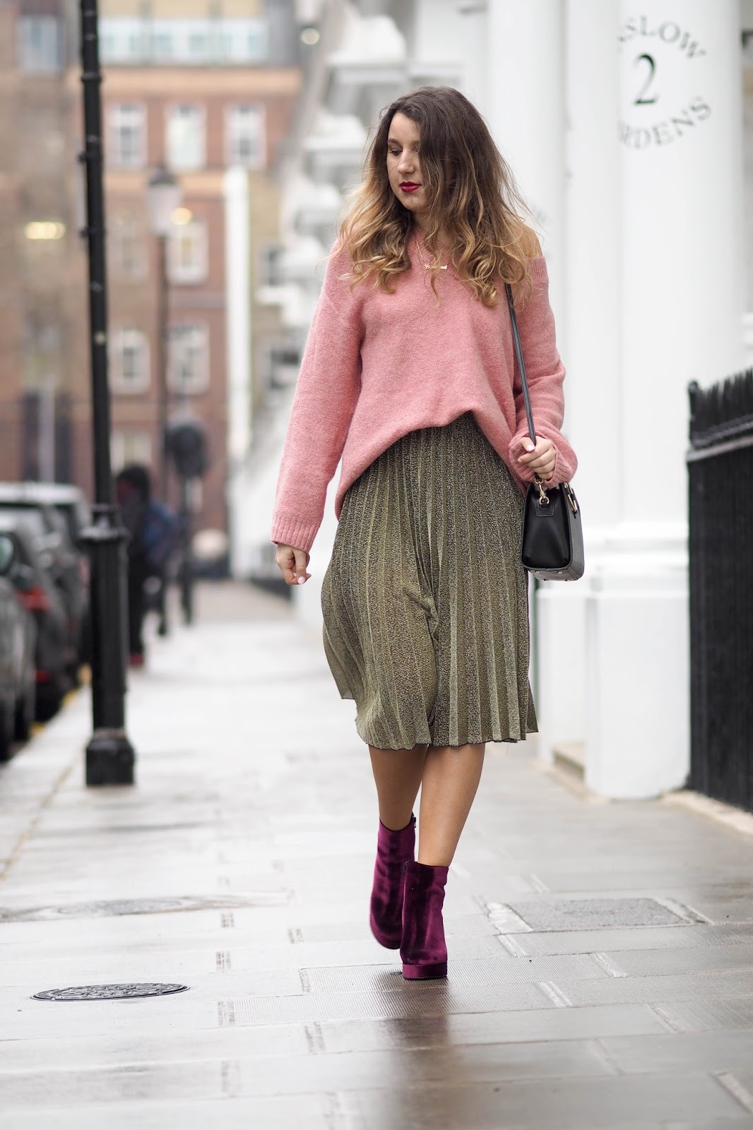 oversized jumpers and pleated midi skirts what s in