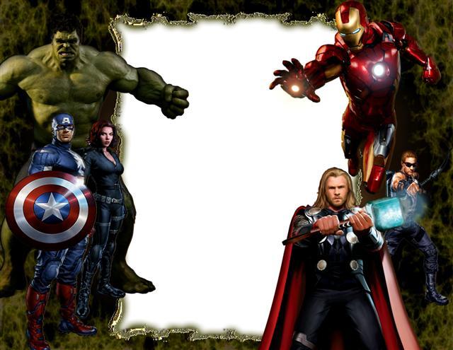 Marco para fotos inspirado en The Avengers