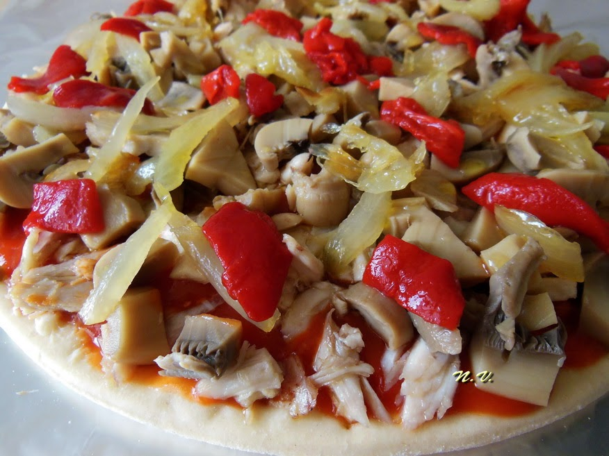 PIZZA POLLO Y CHAMPI 3