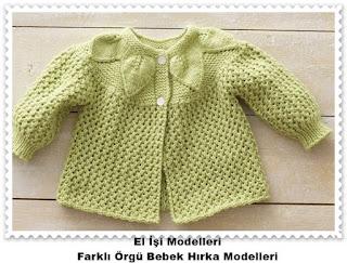 Örgü Bebek Hırka Modelleri 5
