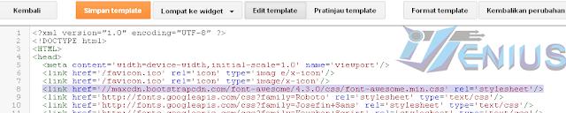 cara memasang icon font awesome di blog