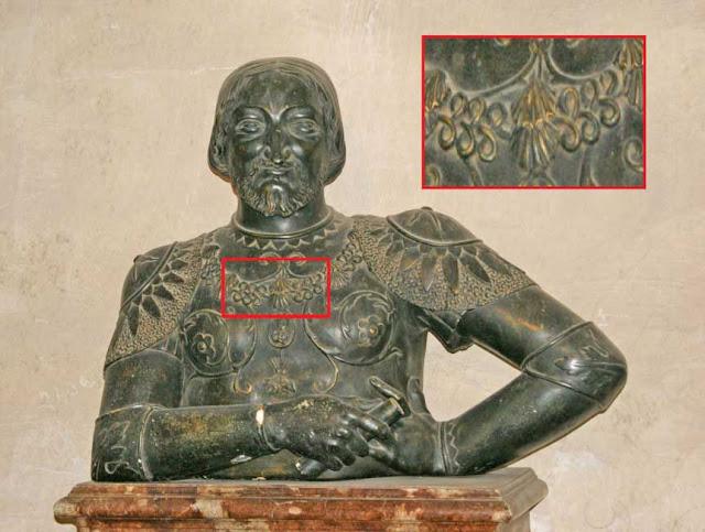 Un buste de François 1er.