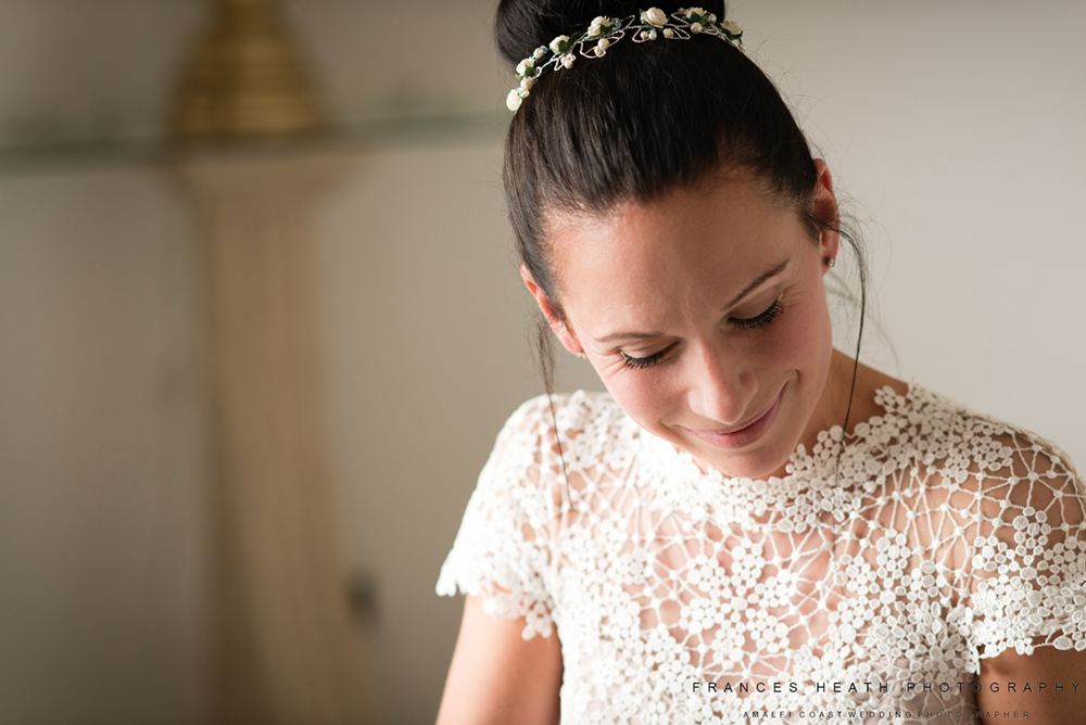 Bride at Villa Oliviero