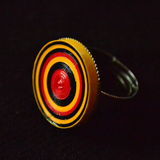 Circle model quilling paper handmade ring designs - quillingpaperdesigns