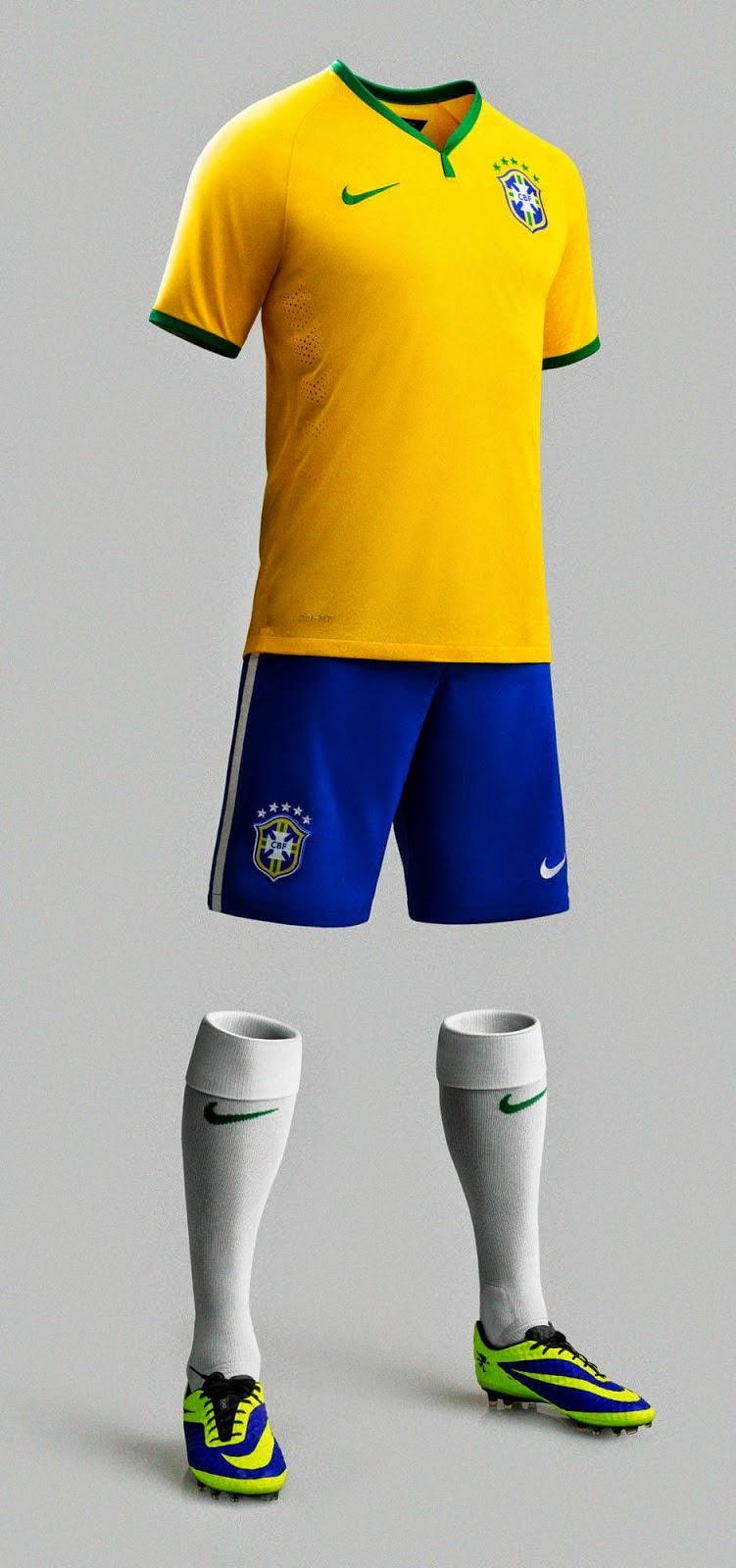 eb59495f66dae Todo para tu Pes2014  Uniforme Brasil Mundial 2014