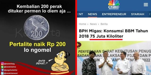 """Pembodohan Publik """"BBM Naik Cuma Rp 200 Kok Ribut"""""""