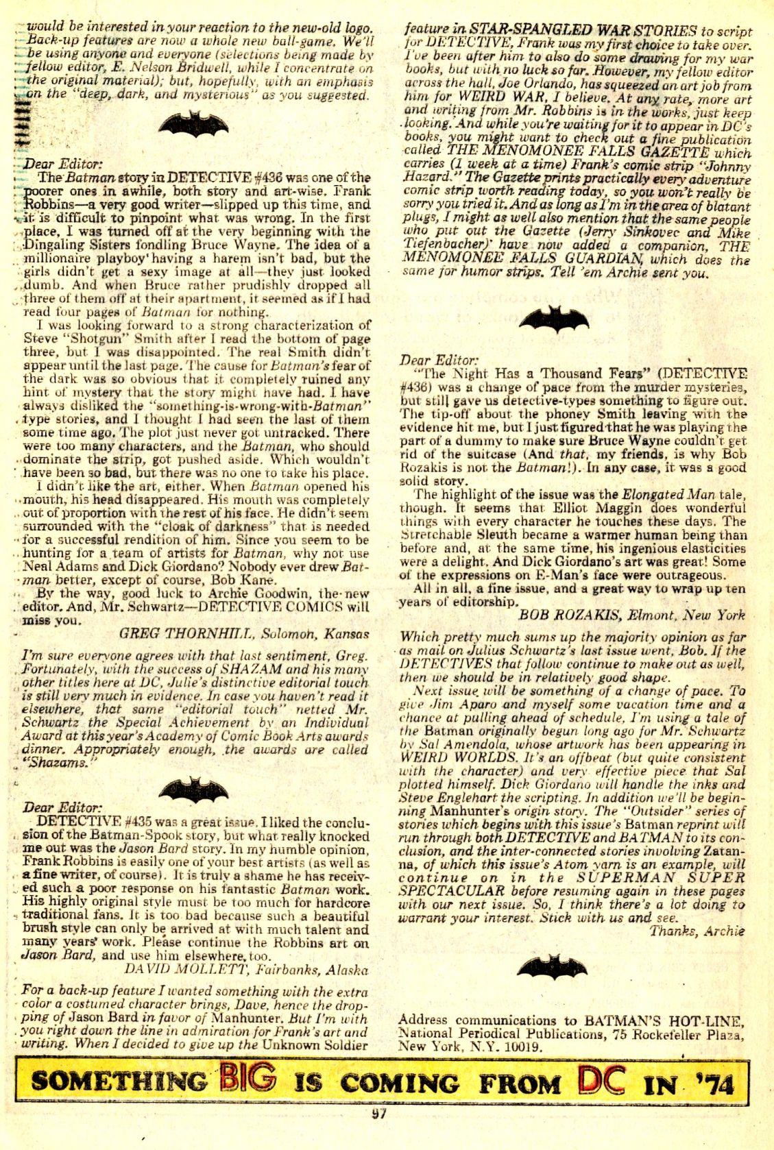 Detective Comics (1937) 438 Page 97