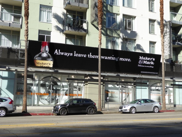 Makers Mark leave them wanting more billboard
