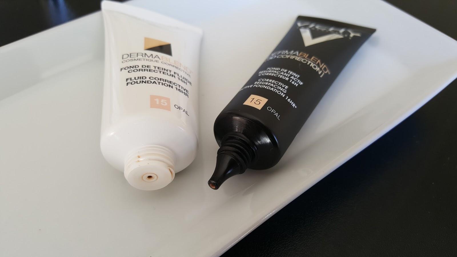 Review vichy dermablend 3d correction foundation every beauty the fluid corrective foundation looks a little lighter in the pictures but in reality both shades are identical when applied on the face geenschuldenfo Gallery