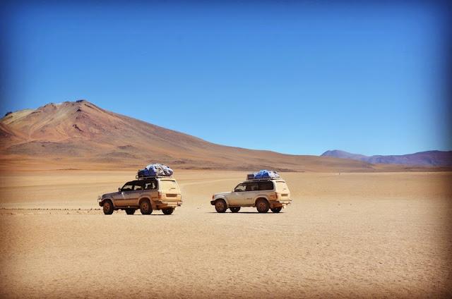 Touring using Land Cruiser 4x4 at Sahara Desert