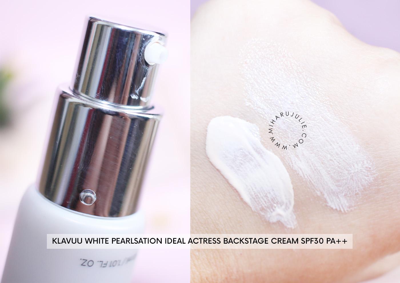 klavuu white pearlsation ideal actress backstage cream spf30
