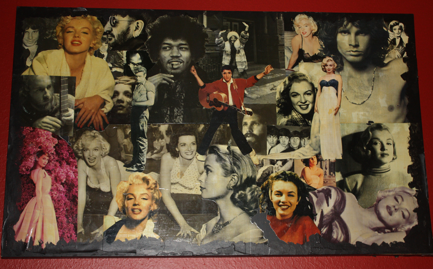 Rock Stars And Hollywood Legends Table Collage