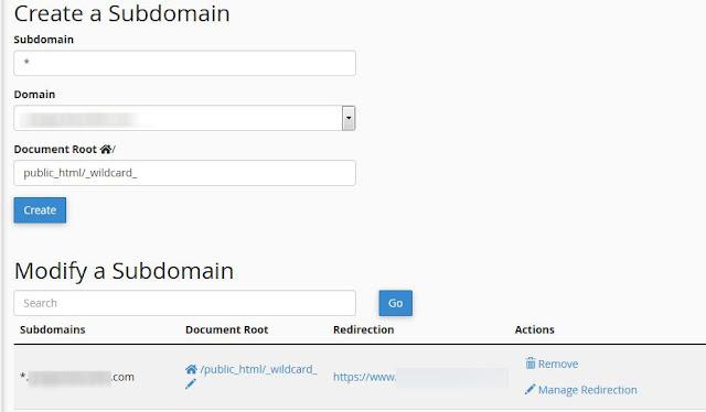 Membuat Wildcard Domain dan Mengarahkannya ke Domain Utama