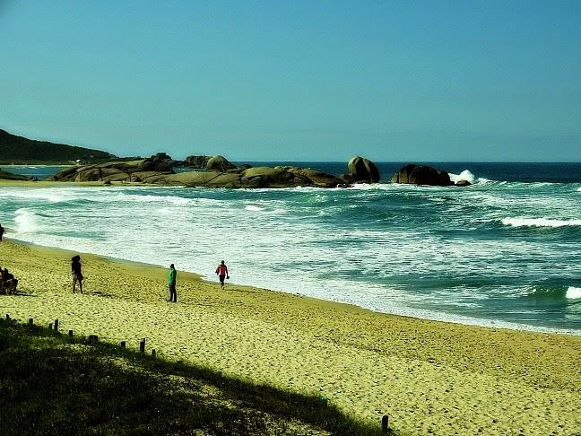Praia Mole, no leste da Ilha de Santa Catarina
