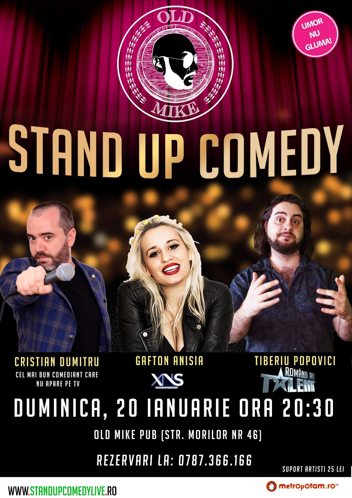 Stand-Up Comedy Bucuresti, Duminica 20 Ianuarie 2019